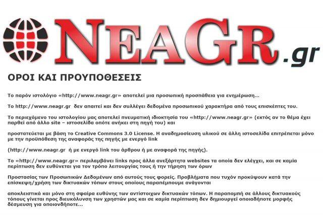 Όροι και προϋποθέσεις του neagr.gr.